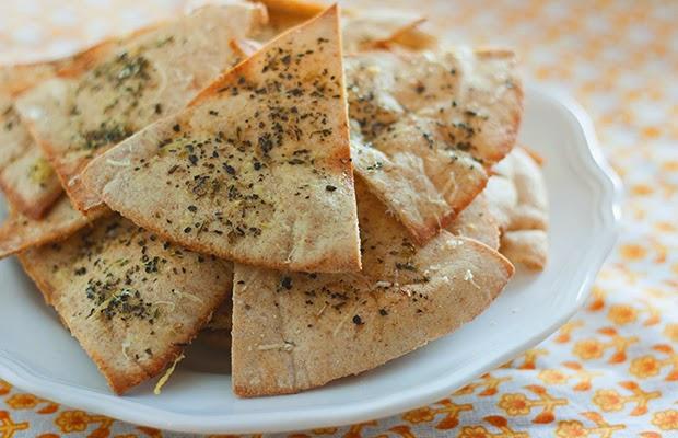 http://www.hiddenfruitsandveggies.com/2013/08/19/easy-homemade-pita-chips/