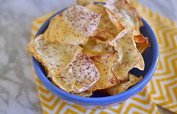http://littleferrarokitchen.com/2013/05/homemade-taro-chips/