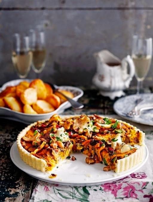 http://www.jamieoliver.com/recipes/vegetables-recipes/vegan-mushroom-chestnut-cranberry-tart/